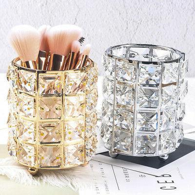 Metal Vanity Organizer Makeup Cosmetics Cabinet Crystal Stor