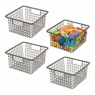 metal wire kids toy box storage organizer