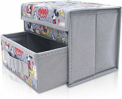 mickey mouse gray grey foldable storage organizer