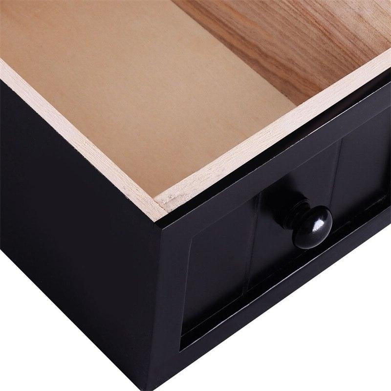 Drawer Wood with Basket Paulownia Withdrawable
