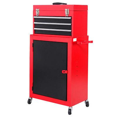 2pc Chest & Storage Rolling Garage Toolbox