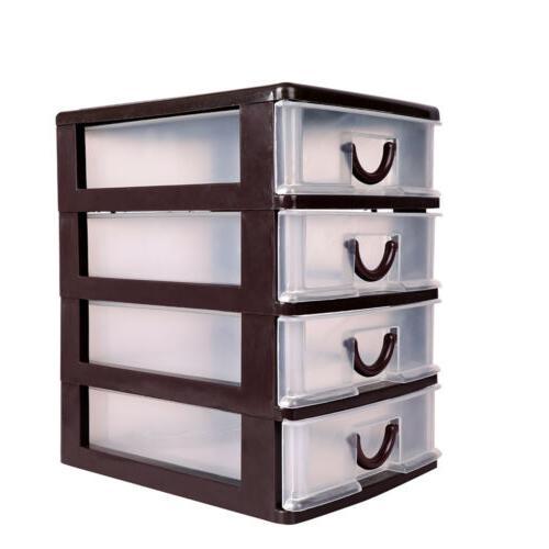 Mini Storage Plastic Cabinet Box Stackable