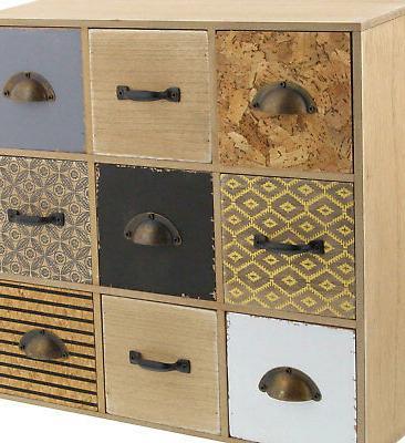 Deco Modern Square Wooden Jewelry Box