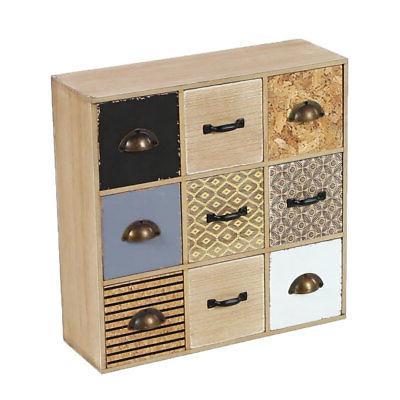 Square 9 Drawer Jewelry Box Organizer