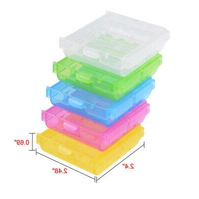 multicolor battery storage organizer protective container