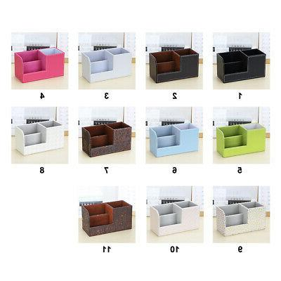Multifunction Case Bedroom Office Stationery Storage PU