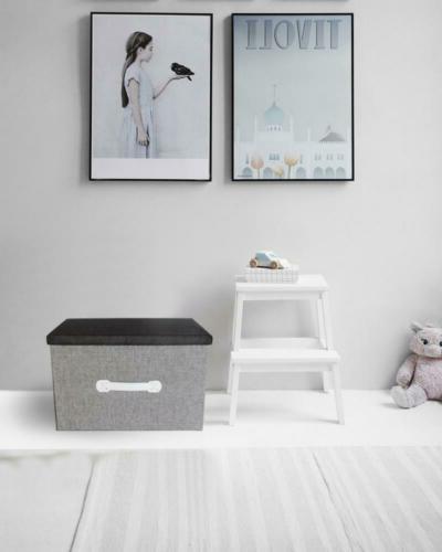 Natural Storage Box - Archival Grey