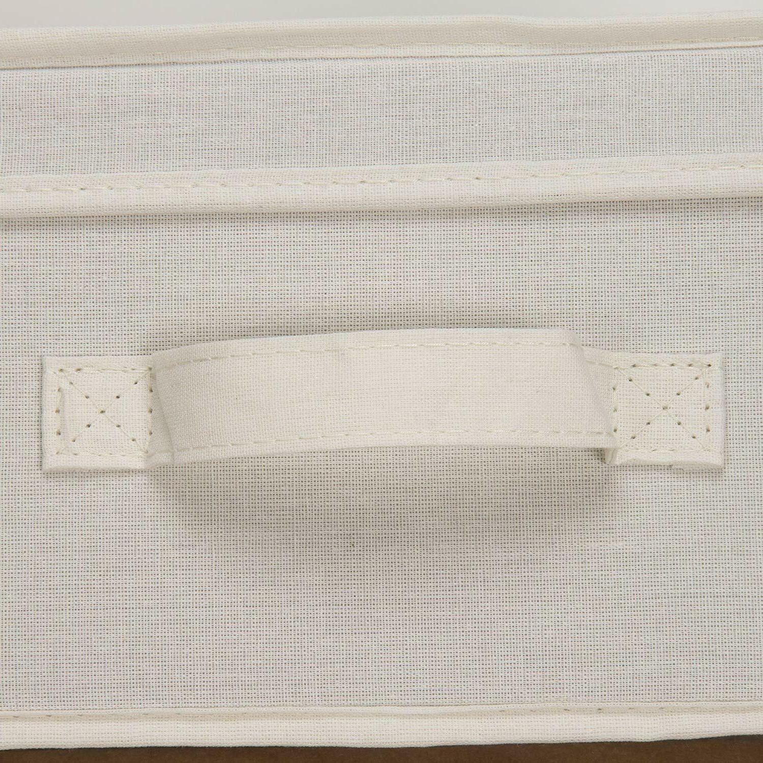 NEW Household Essentials Storage Box &Handle Natural Canvas