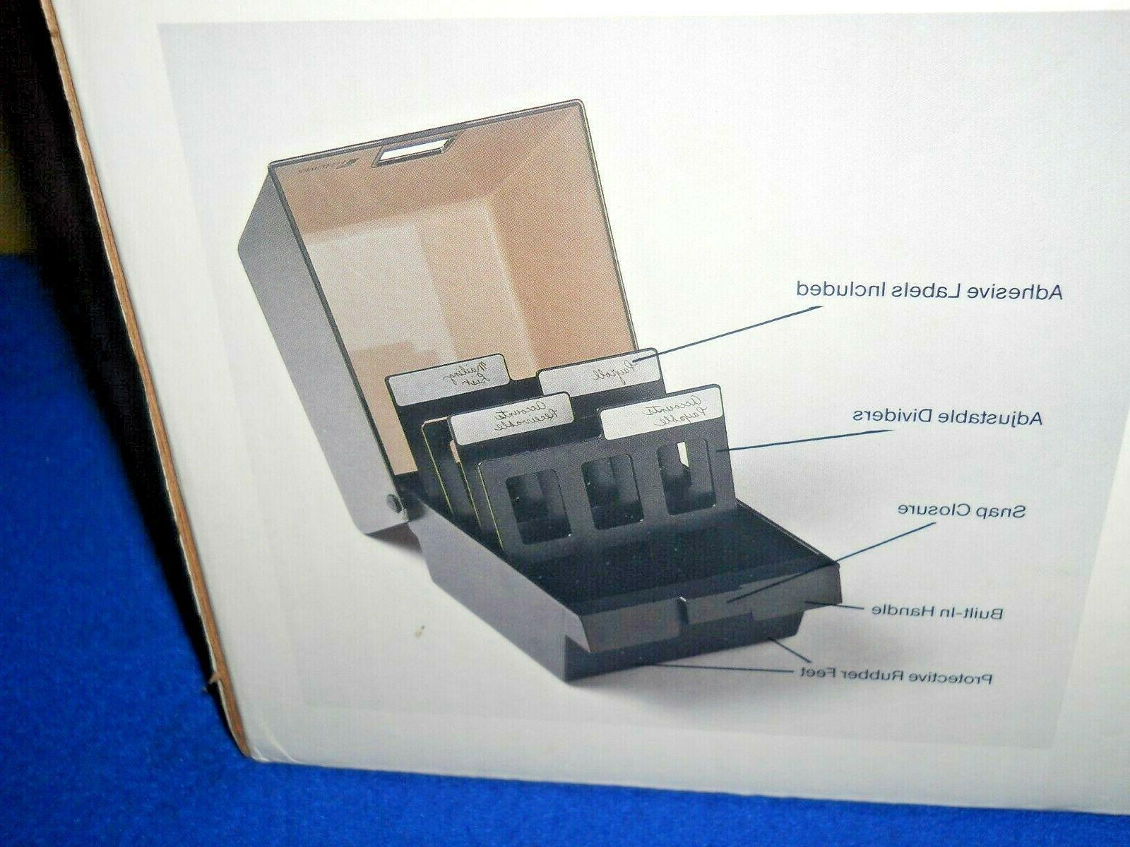NEW 60 DISK STORAGE BOX W/ Dividers File