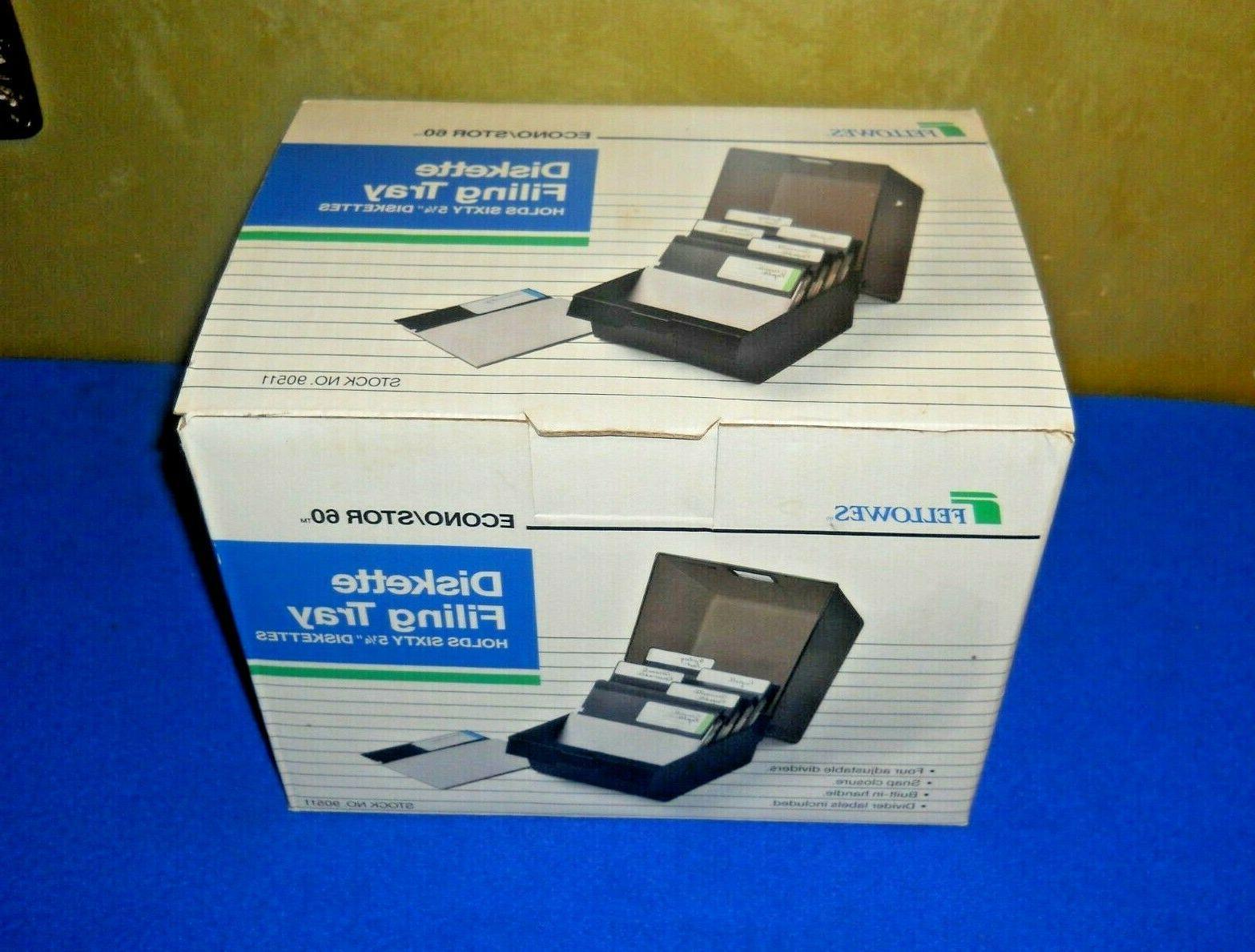 new 60 floppy disk storage box w