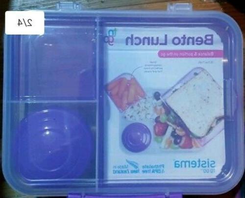 Sistema Bento Lunch To Go, Blue Healthy Lunchbox Work School