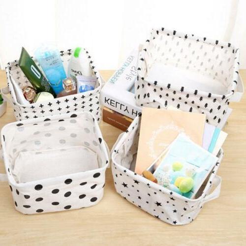 home desktop storage bin box basket organization