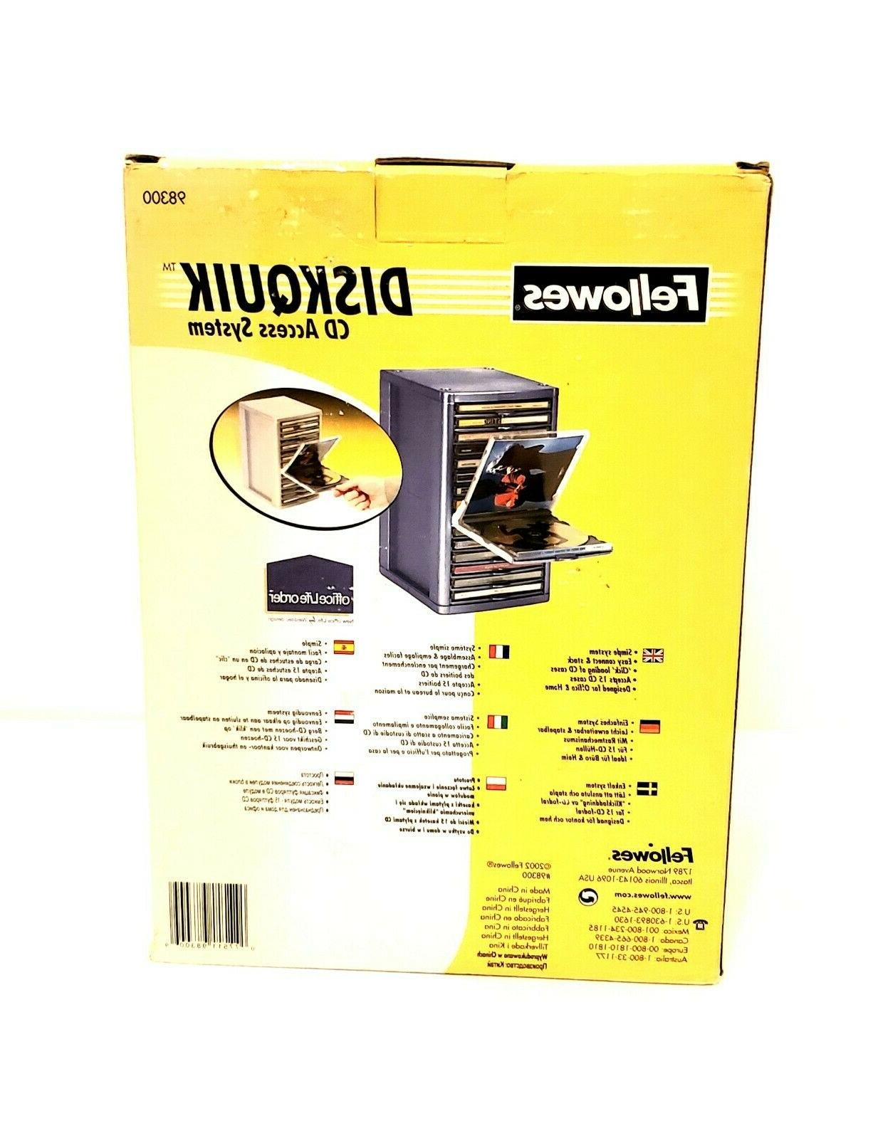 NEW Fellowes Diskquik CD DVD Quick Box Capacity