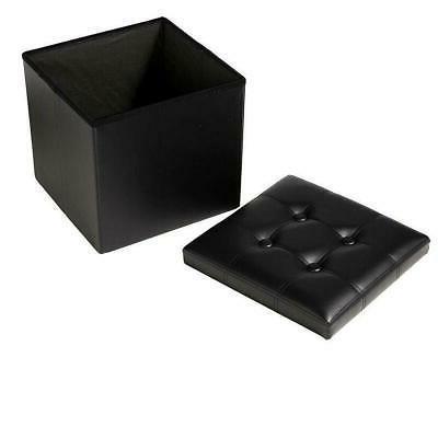 Faux Leather Storage Square Box
