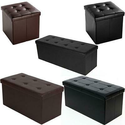 new faux leather storage footstool sofa ottoman