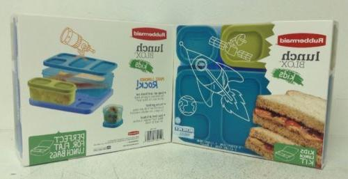 NEW, LOT OF 2: Rubbermaid Lunch Blox Kids Lunch Container Ki