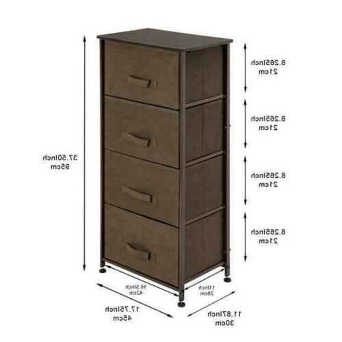 NEW Bins 4 Drawers Tower Foldable Organizer