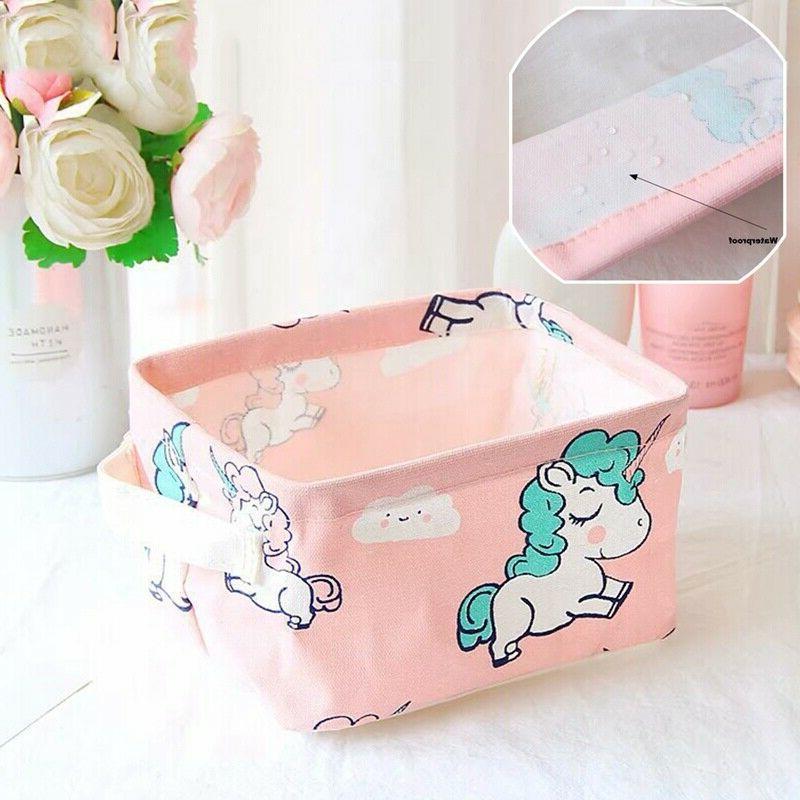 Unicorn Canvas Box Basket Household Supplies