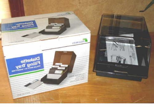 nib 60 floppy disk storage box w