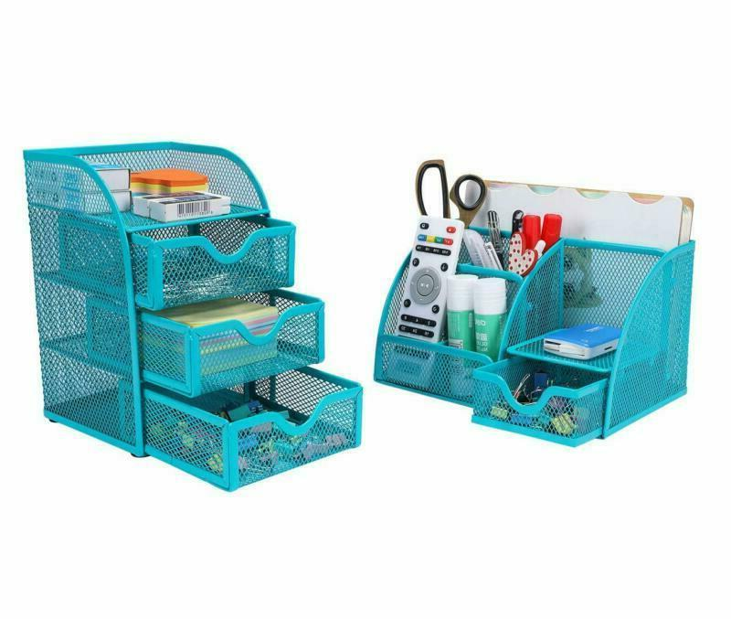 office supplies mesh organizer set accessories storage