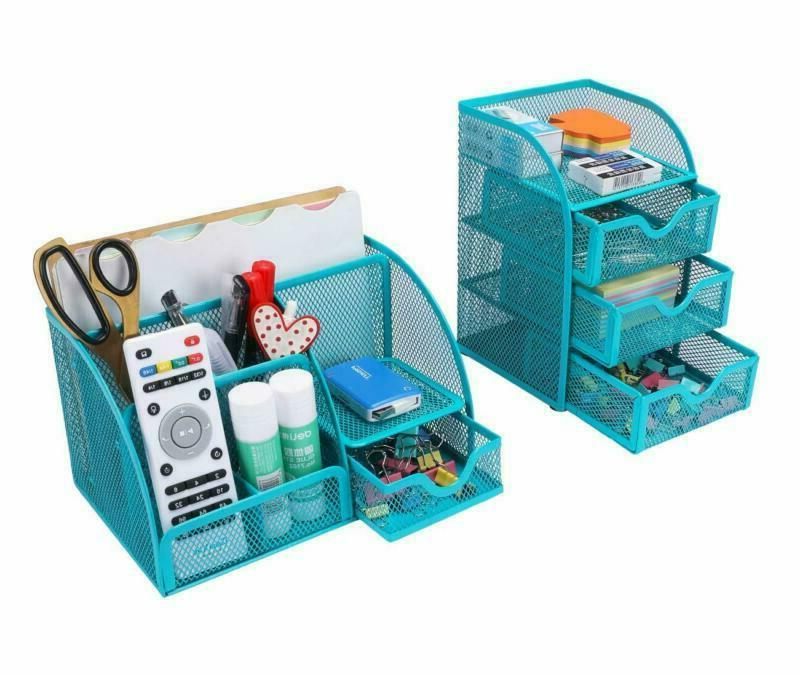 Office Mesh Organizer Set Accessories Storage Pen