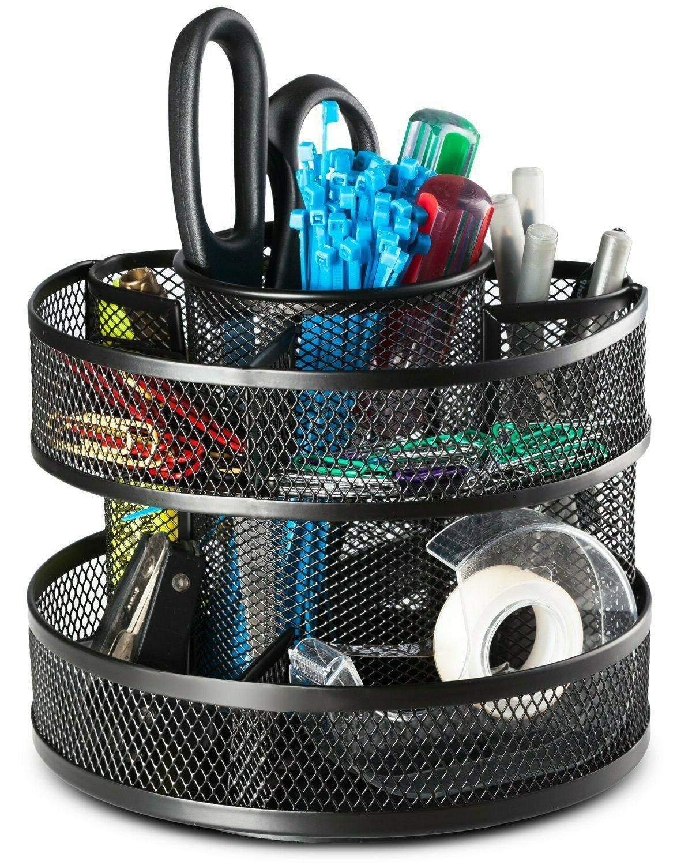 Office Desk Supplies Storage Steel Mesh Box
