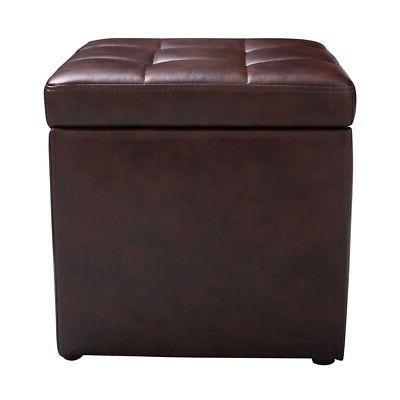 ottoman pouffe storage box lounge seat footstools