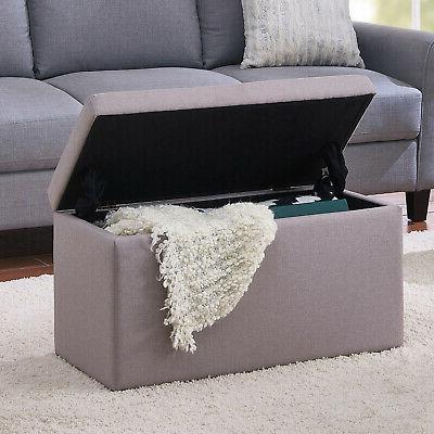 OTTOMAN Leather Box Chest Large Home Decor
