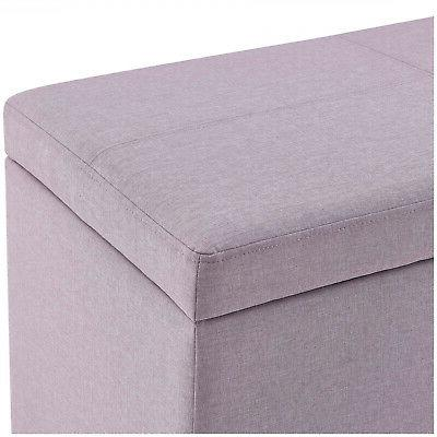OTTOMAN Leather Box Chest Bedroom Decor
