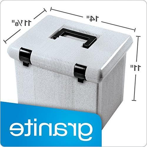 """Oxford Large File Box, Granite, x 14"""" 11-1/8"""""""