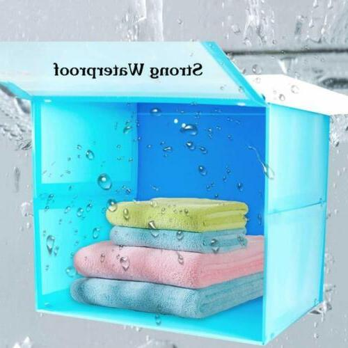 Bathroom Closet Box Shower Organizer Folding Shelf