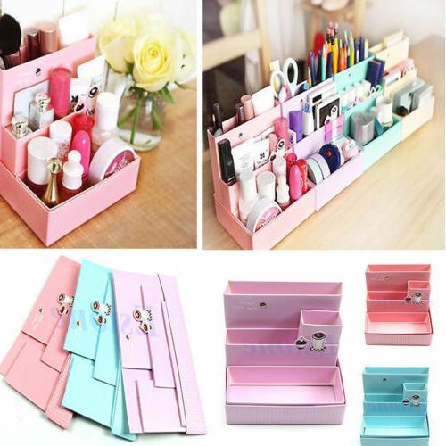 Paper Board Storage Box Desk Decor Stationery Makeup Cosmeti