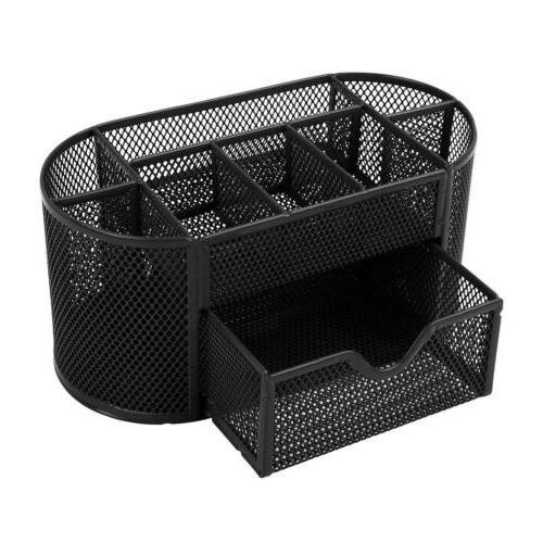 Desk Office Table Supplies Storage Metal Black
