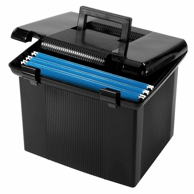 pendaflex portable file box black 11 h