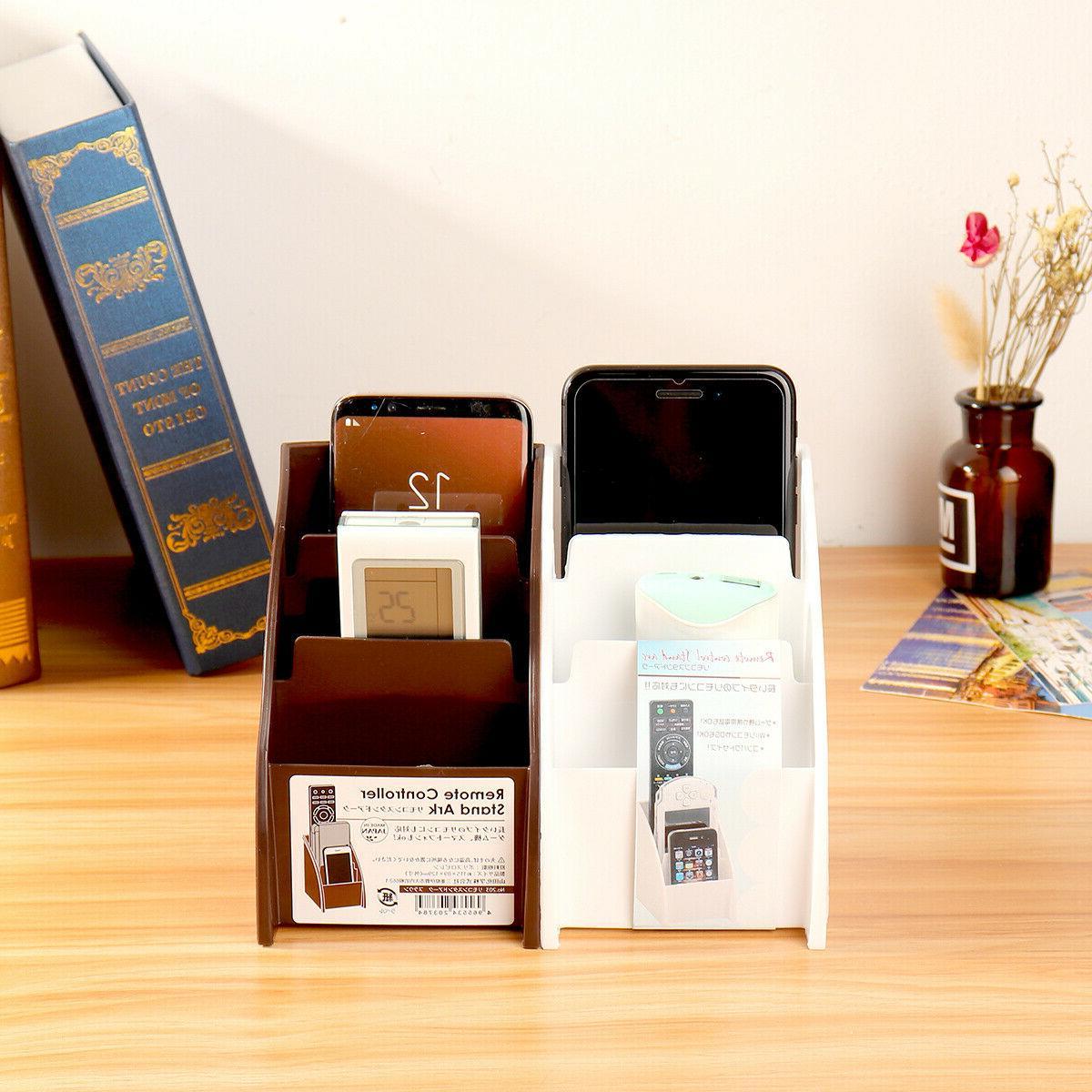 Phone/TV Remote Box Home Holder White /