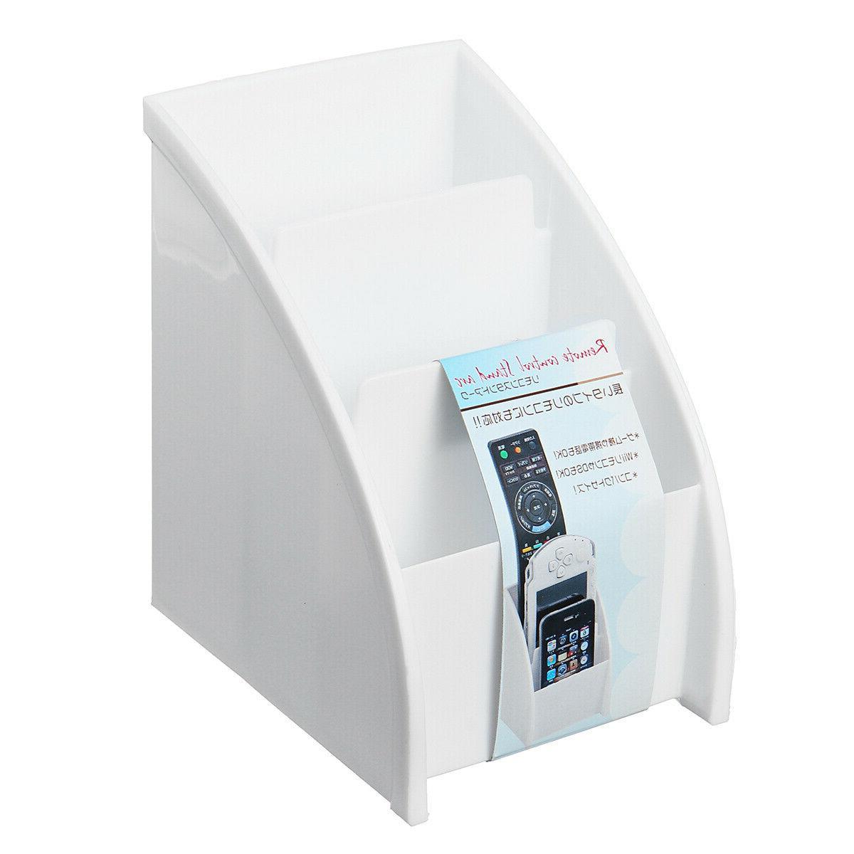 Phone/TV Control Box Desk Holder White