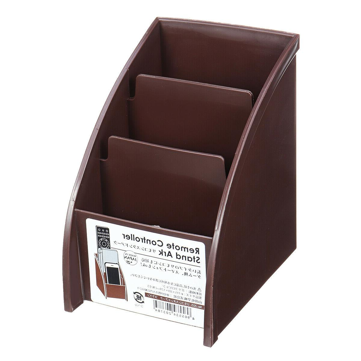 Phone/TV Remote Box Home Holder Brown
