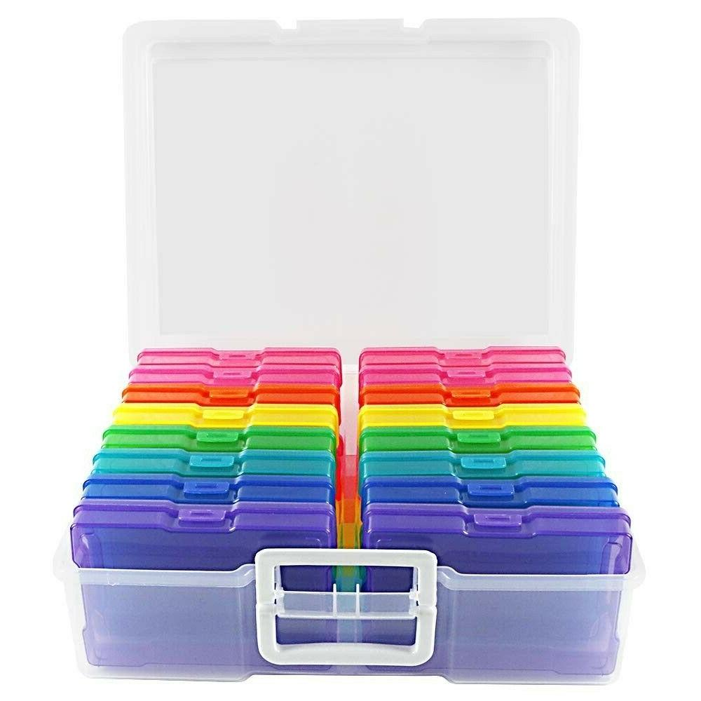 "Photo Storage Box Containers 4"" X 6"" Keeper Organizer 16 Inn"