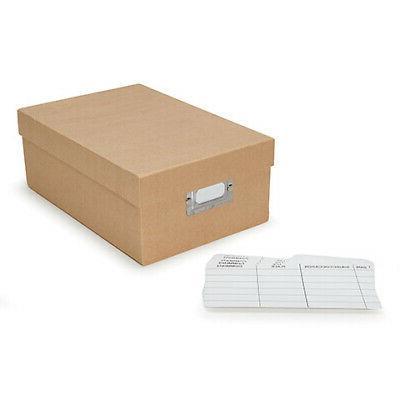 photo storage box plain tan paper 7