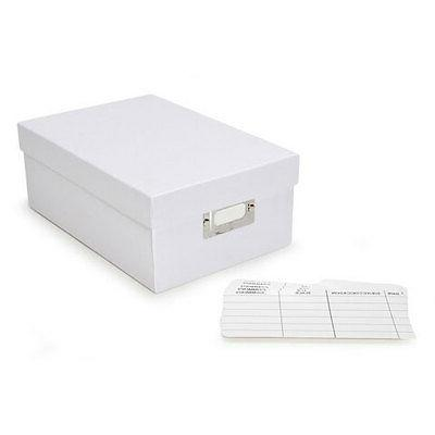 Darice Photo Storage Box Plain White Paper 7.5 X 4 X 11 Inch