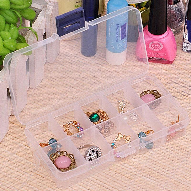 Plastic Slots Jewelry Case Craft Organizer Bead