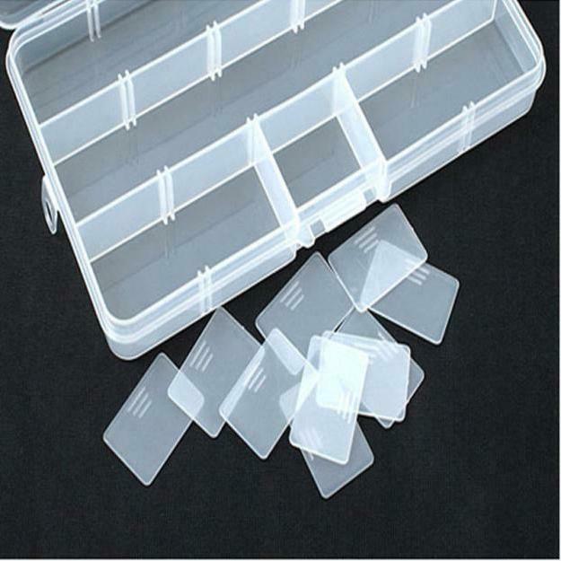 Plastic 15 Adjustable Jewelry Craft Organizer Bead