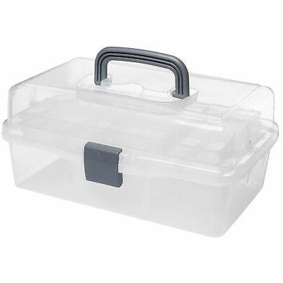 plastic 2 tier trays craft supply storage