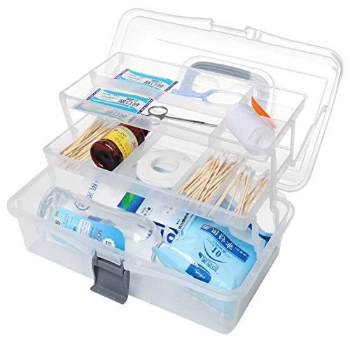 MyGift Trays Craft Box/Firstaid Carrying Case Handle