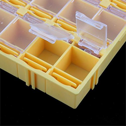 uxcell Plastic Compartments Electronic Components Case