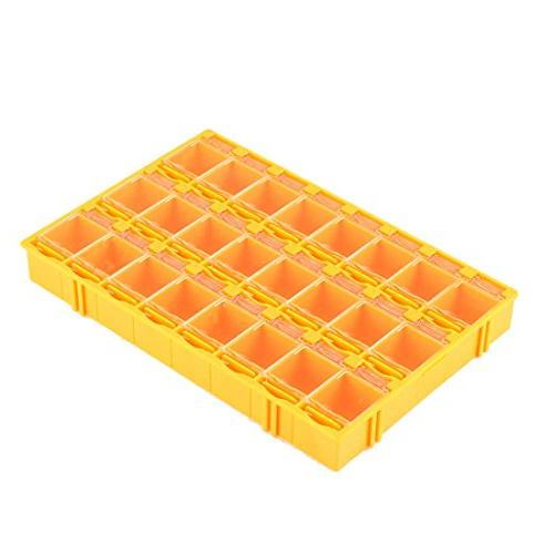 uxcell Plastic 24 Electronic Components Case