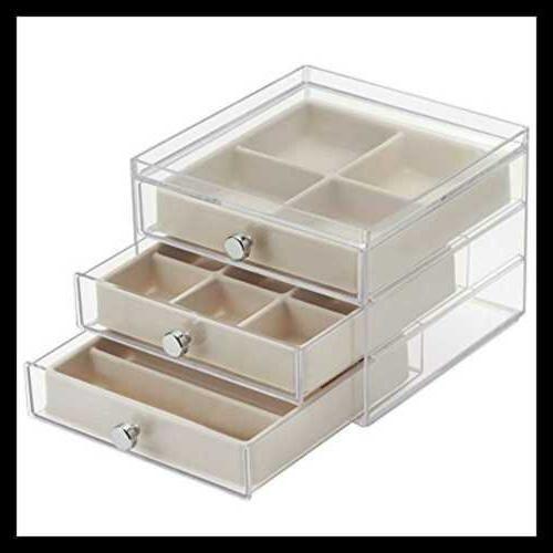 Interdesign Plastic 3 Box Compact Drawers C
