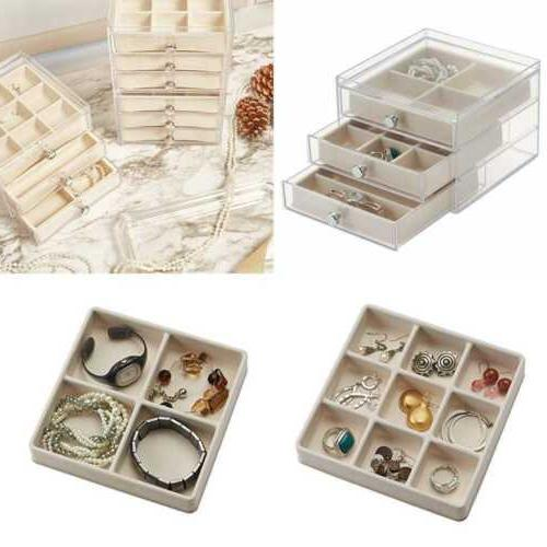 plastic 3 jewelry box compact storage organization