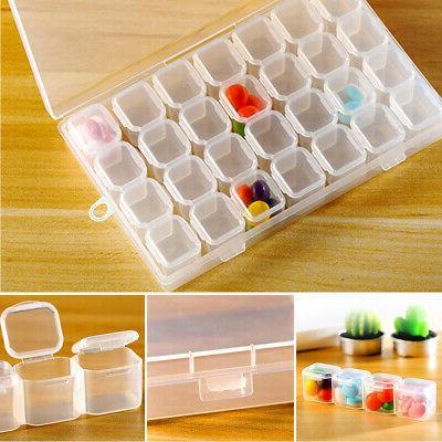 Plastic Storage Case Bead Screw Organizer