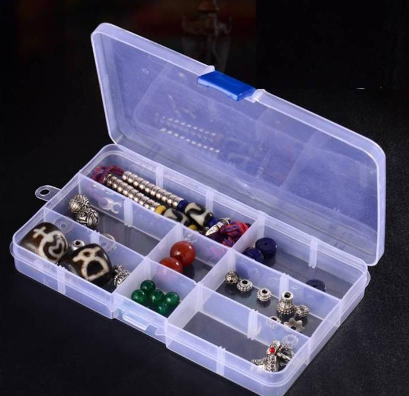 Plastic Grid Adjustable Organizer Jewelry Storage Container